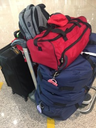 Yeah... all me. Three large duffles, one suitcase, one small carry on duffle and my backpack. Can you say ouch!???