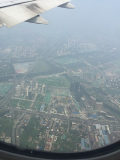 Flying into Beijing.