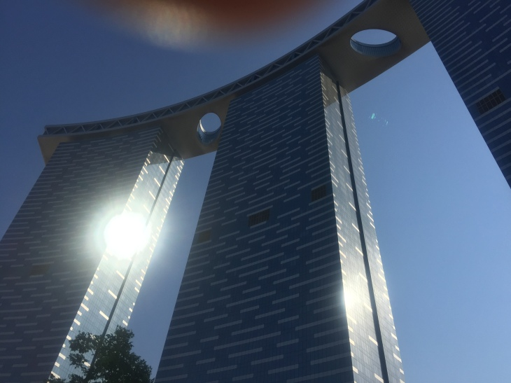 The Poolside view of two of the three towers where I stayed.