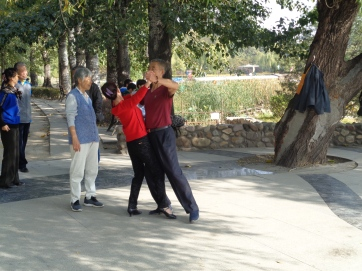 Dance lessons in the park