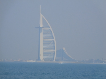 The Burj Al Arab one of the most luxurious hotels in all of the world. 56 floors Although 39% of it is unoccupied space!