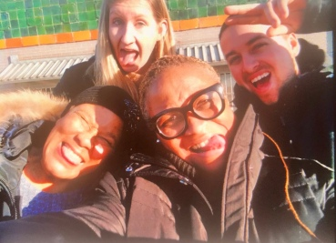 Crazy faces from the market rooftop.