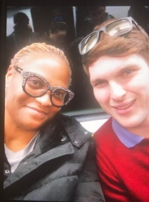 My first subway ride! Matthew is from South Africa... one of the sweetest guys ever! So helpful.